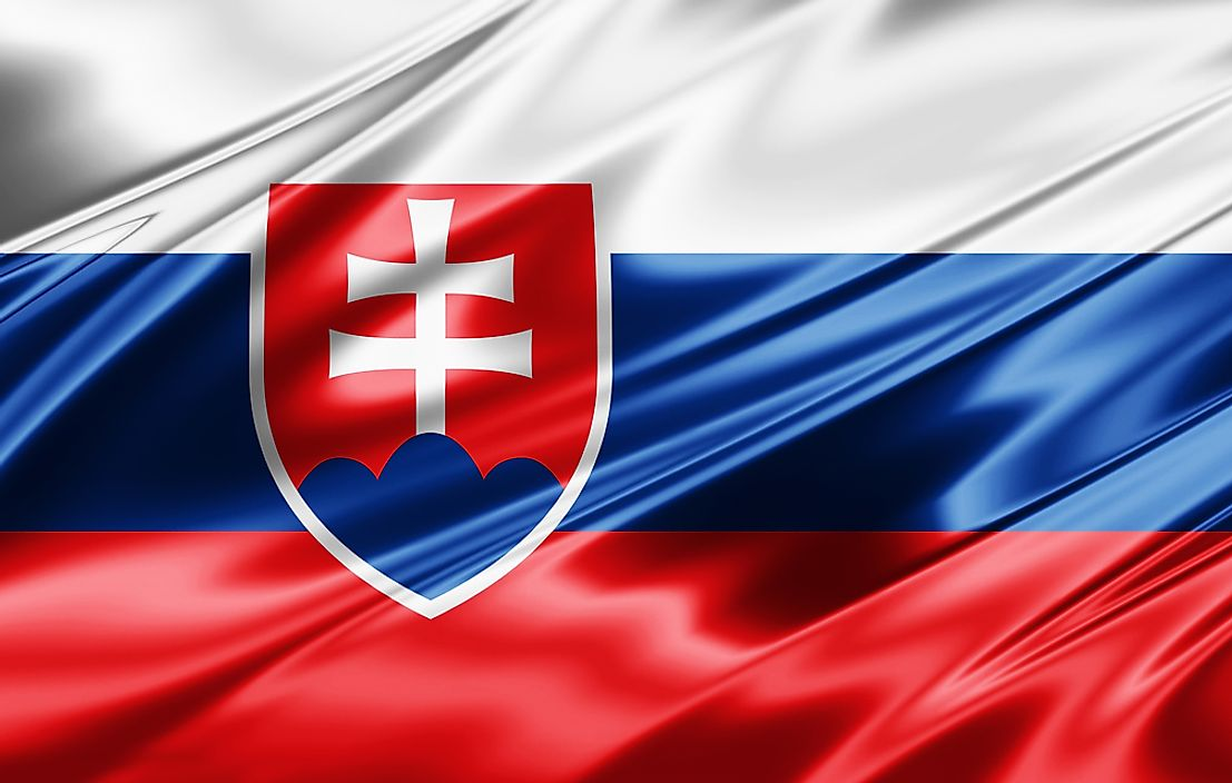 The flag of Slovakia.