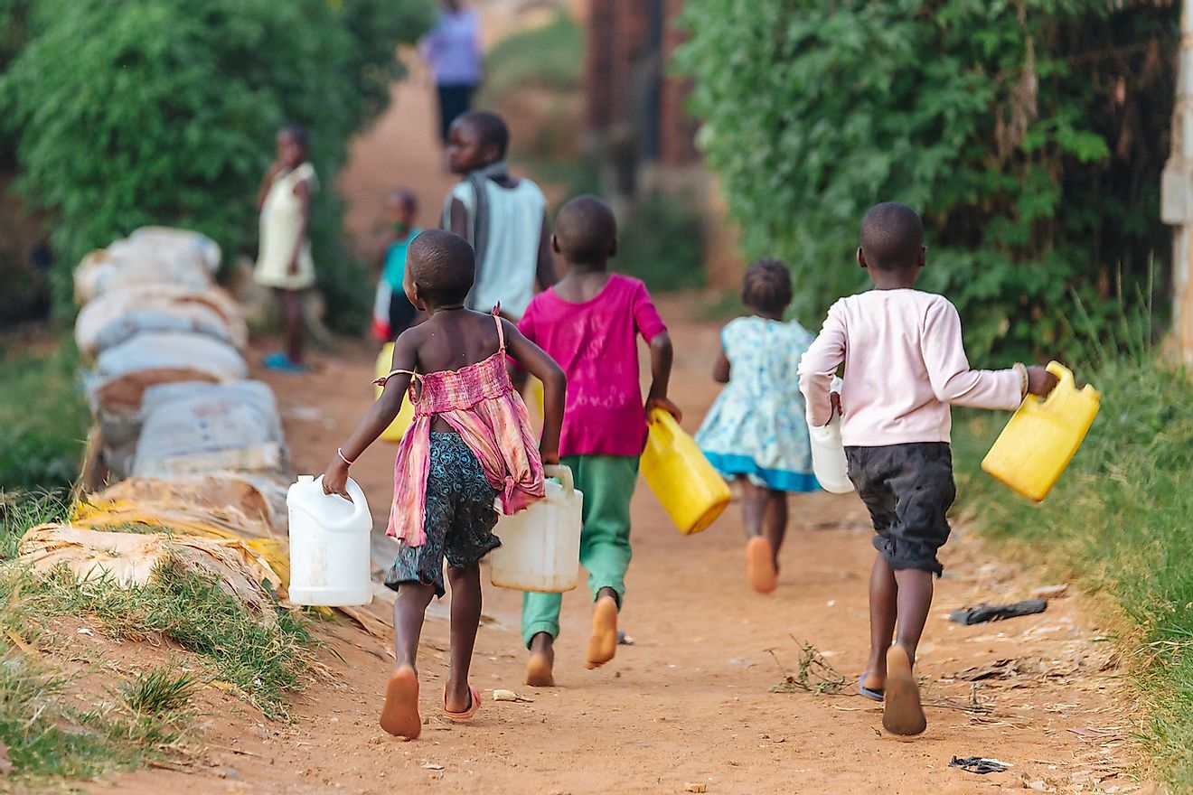 In many African countries, basic necessities like clean water are difficult to access. Image credit: Dennis Diatel/Shutterstock.com