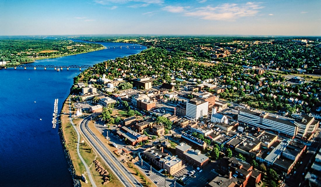 Fredericton is the provincial capital and third-largest city.