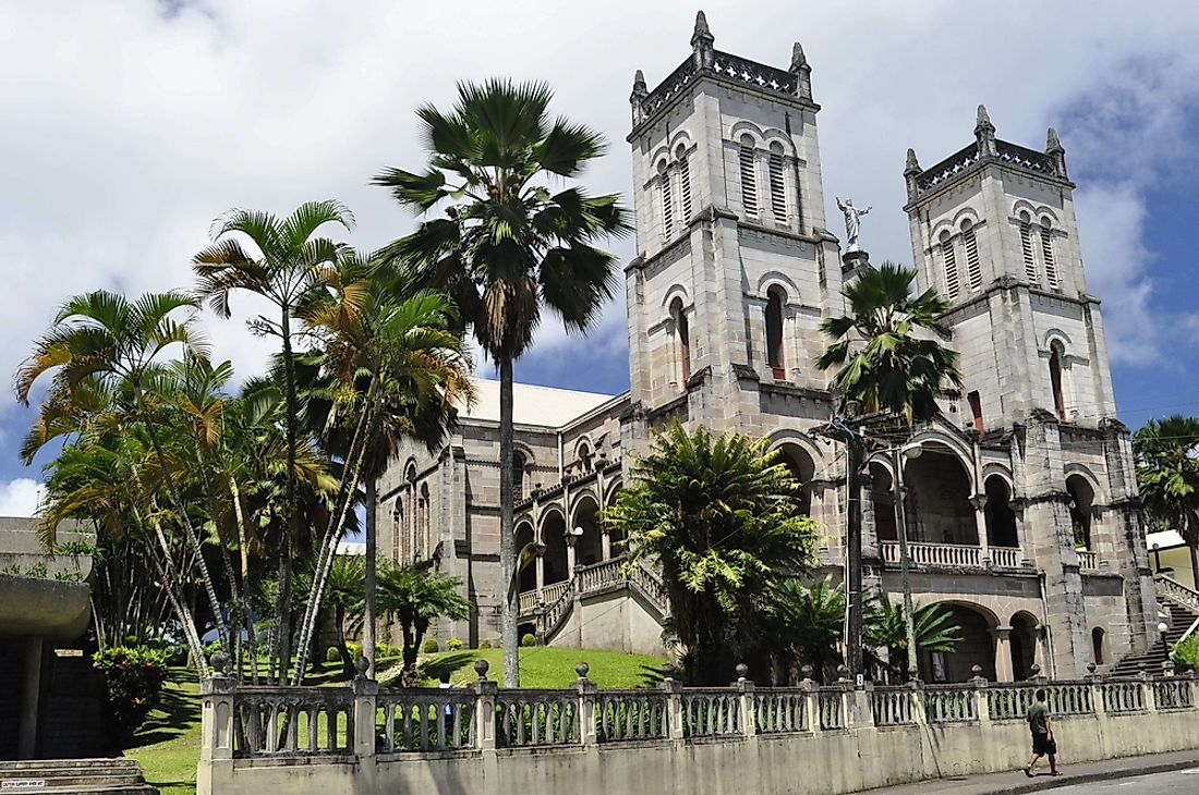 A cathedral in Suva, the capital of Fiji.