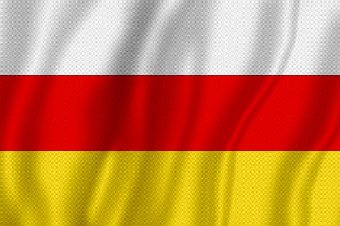 Flag of the Republic of South Ossetia.