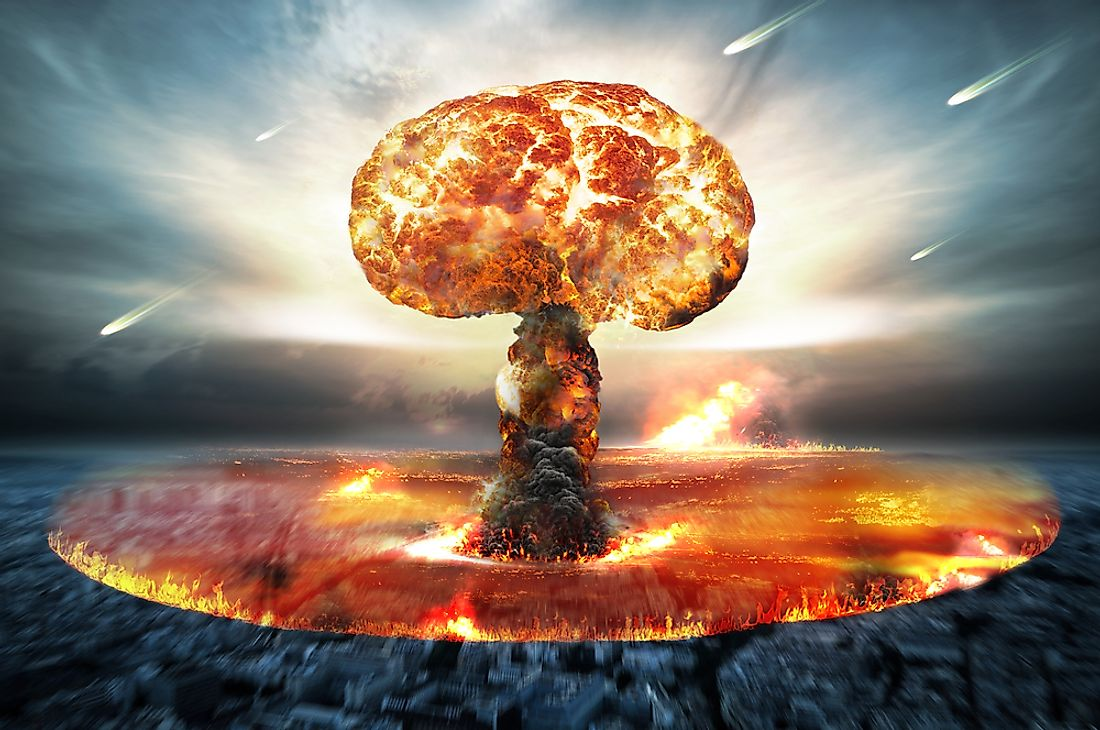 A 3D rendering of nuclear war.