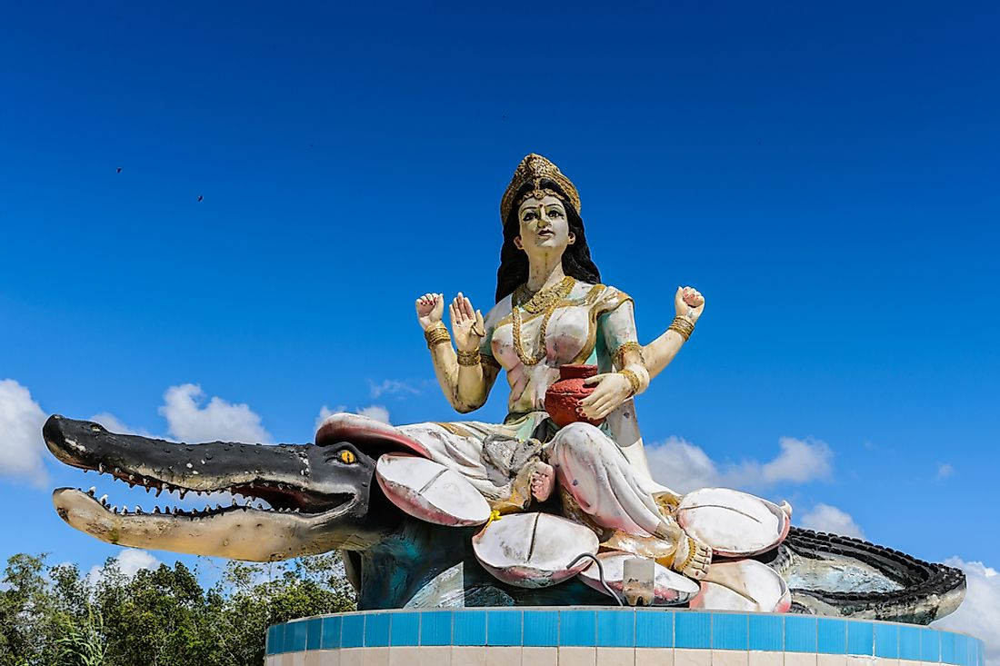 A sculpture of an Indian god in Suriname.