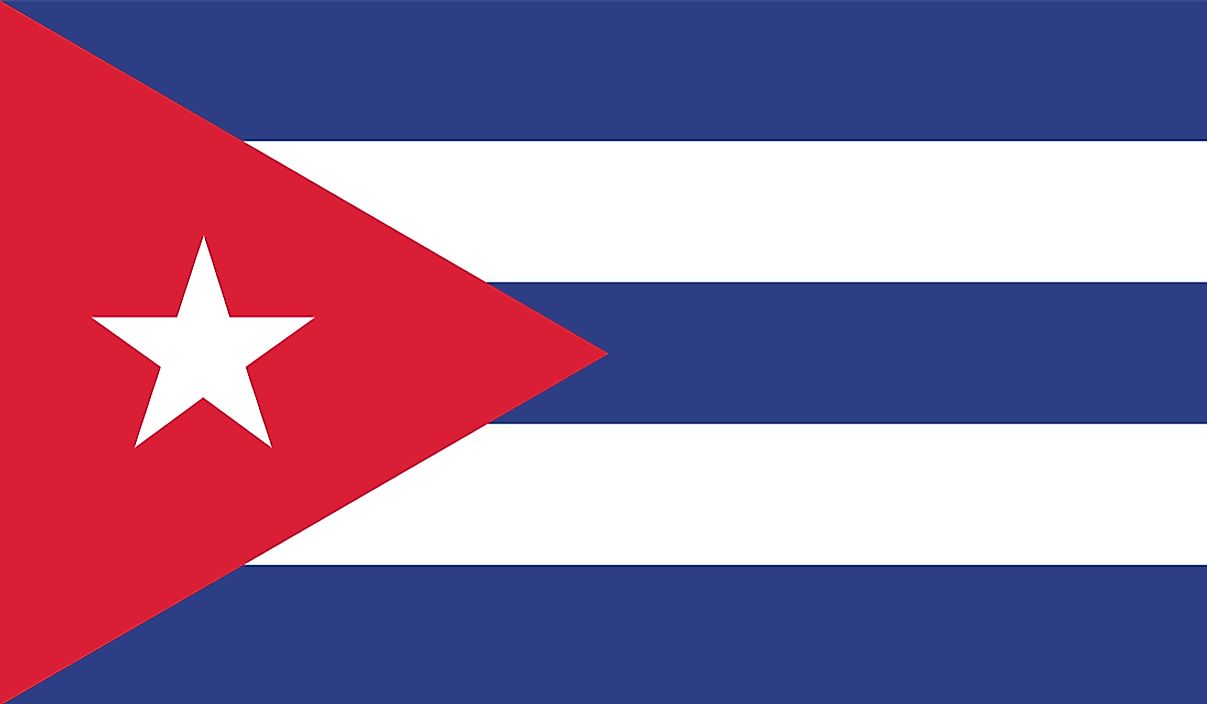 The flag of Cuba.
