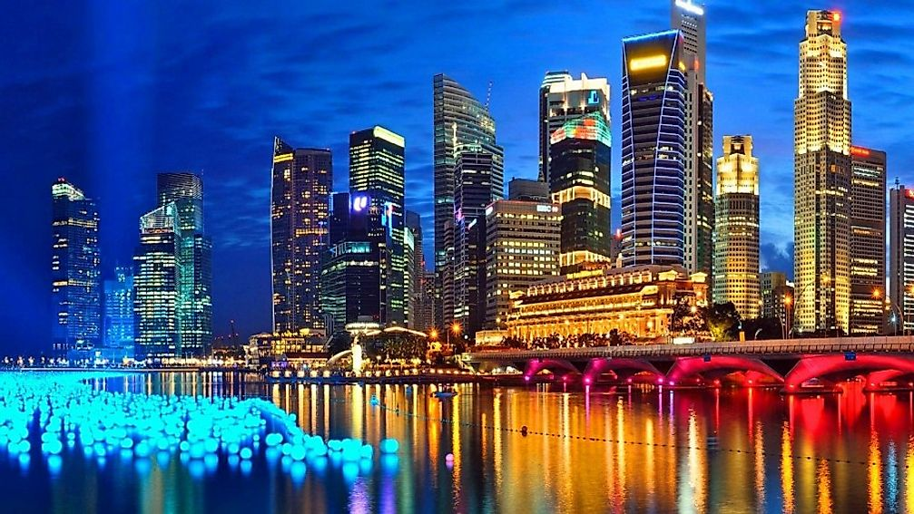 Singapore is unique because other countries like Malaysia and Borneo shield it.