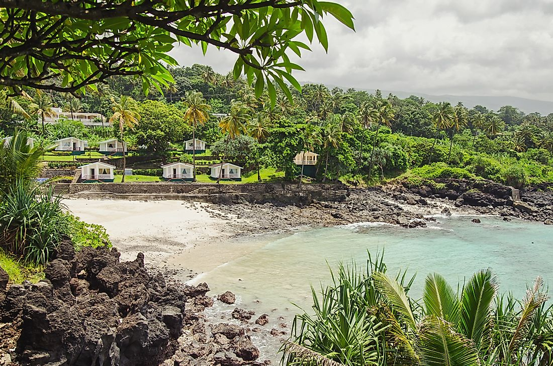 Housees in Moroni, Comoros.