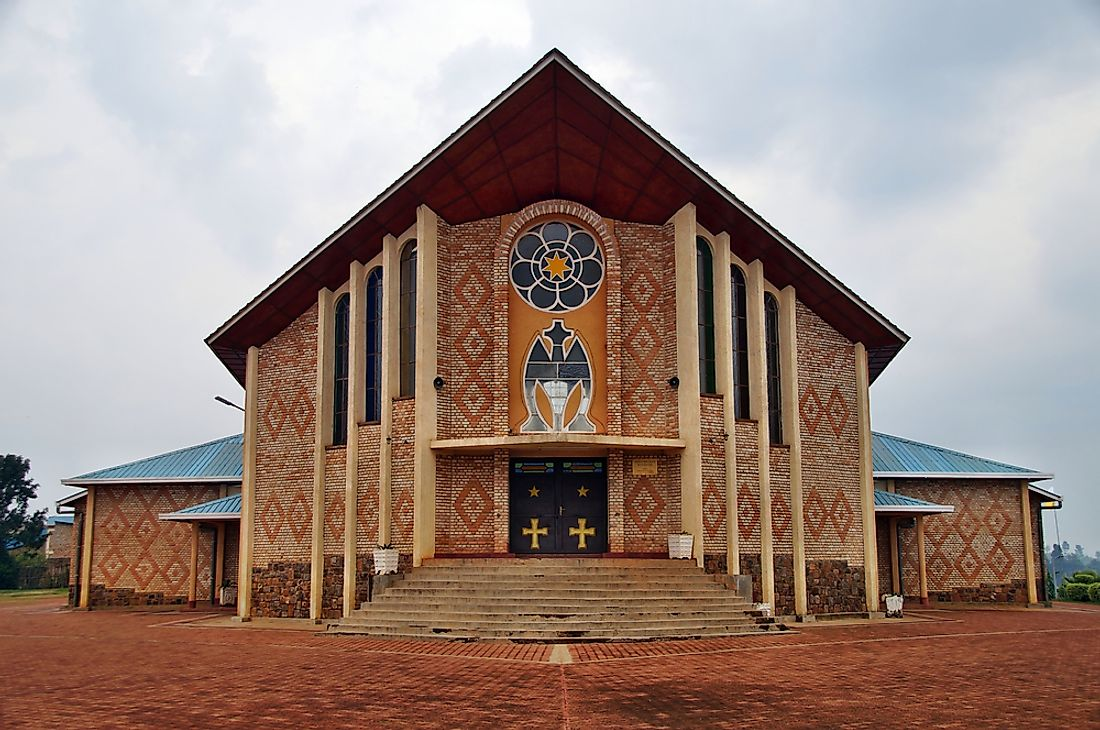 Blessed Virgin Mary and Jesus Christ Christian church is seen here in Kibeho, Rwanda.