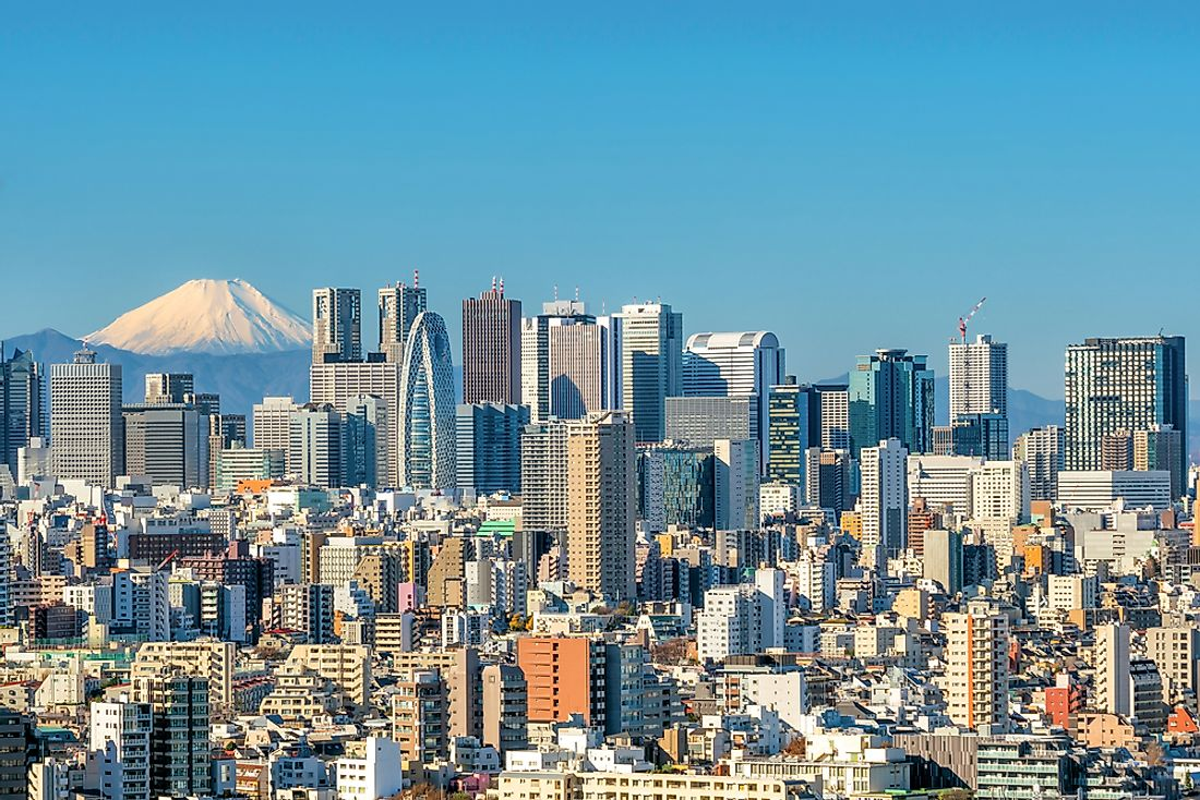 Tokyo has 49 buildings and structures rising to more than 614 feet.