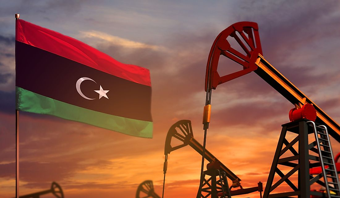 The Libyan economy is highly dependent on the oil industry.