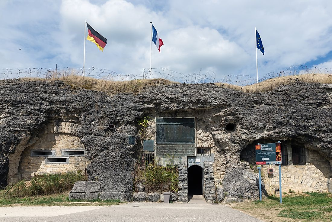 Fort Douaumont, one of the forts around Verdun. Editorial credit: T.W. van Urk / Shutterstock.com