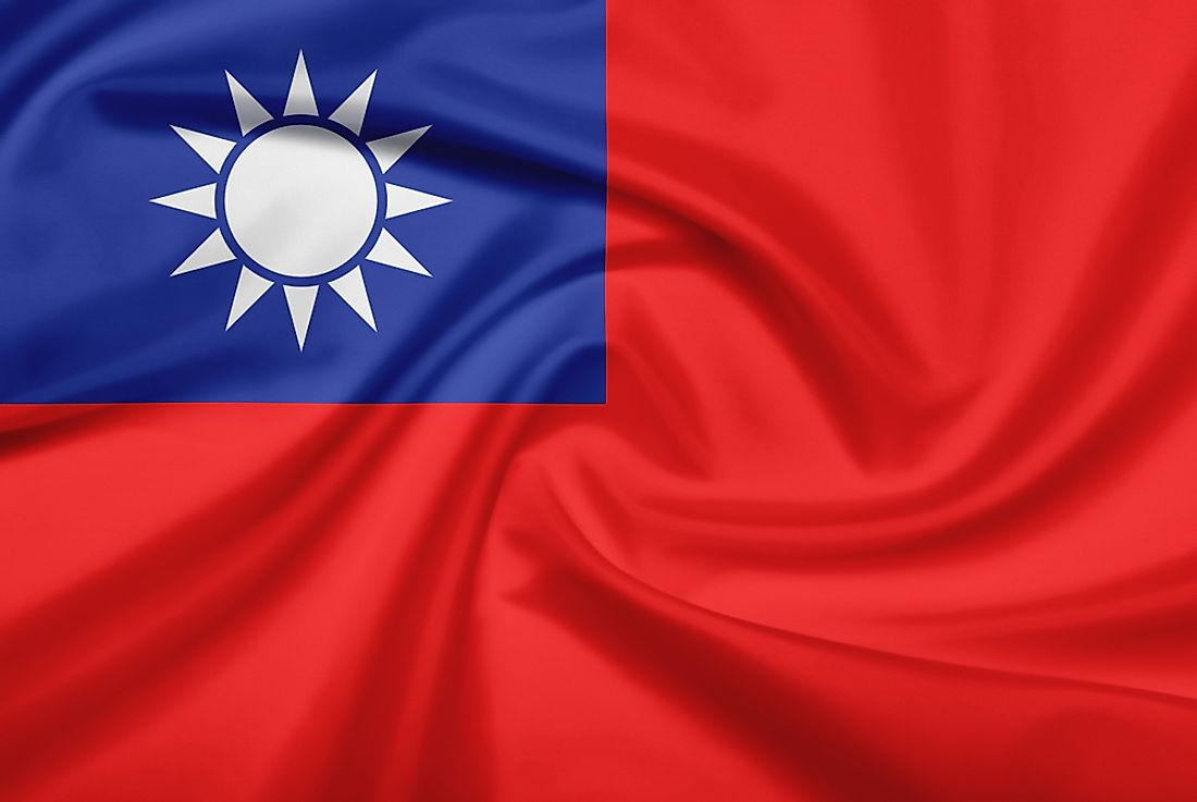 The official flag of Taiwan.
