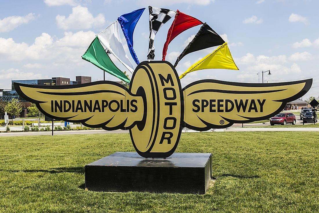 The Indianapolis Motor Speedway, the second largest motor racing venue in the world. Editorial credit: Jonathan Weiss / Shutterstock.com.