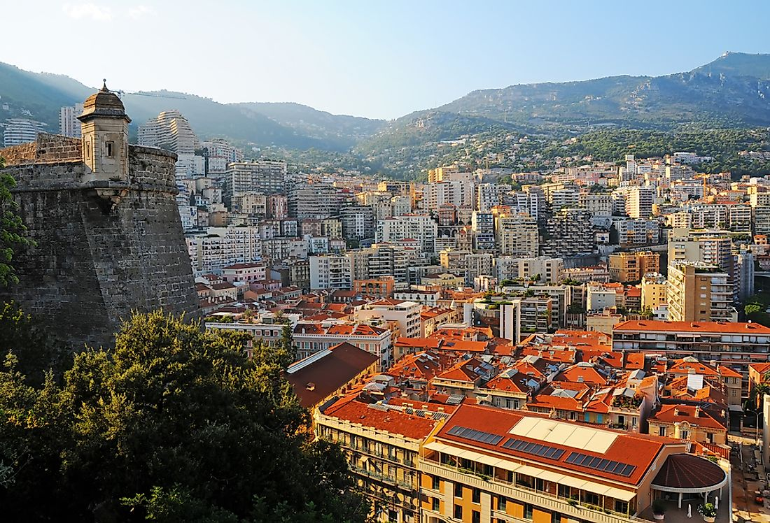 Monaco, the most densely populated country in Europe.