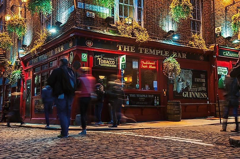 Pubs, such as this one in central Dublin, Ireland, have long been centerpieces of Irish recreational life.