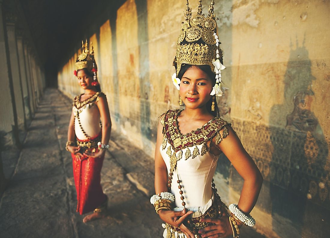 Traditional Aspara dancers in Cambodia.