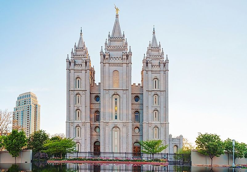 The Salt Lake Mormon Temple in Utah has a floor space of 253,015 square feet, and is one of the most famous churches on earth.