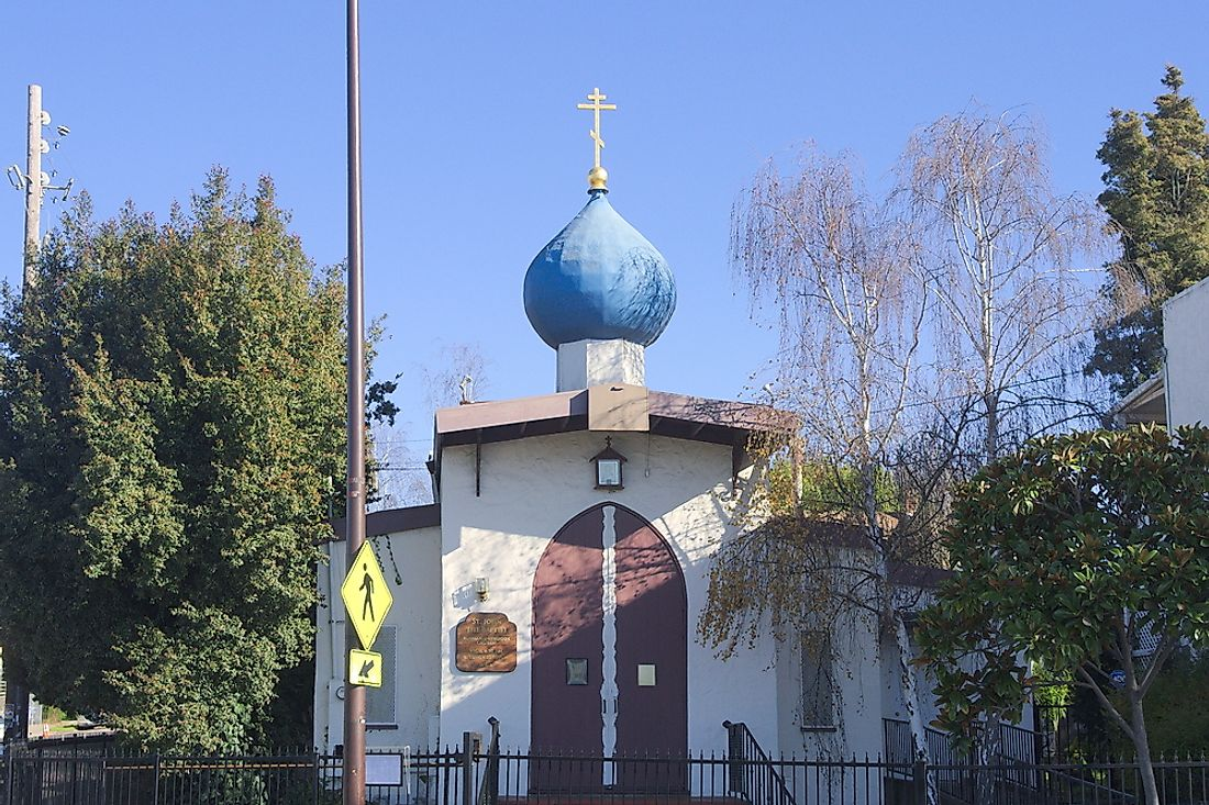 Editorial credit: Todd A. Merport / Shutterstock.com. A Baptist Russian Orthodox Church in Berkeley, California.