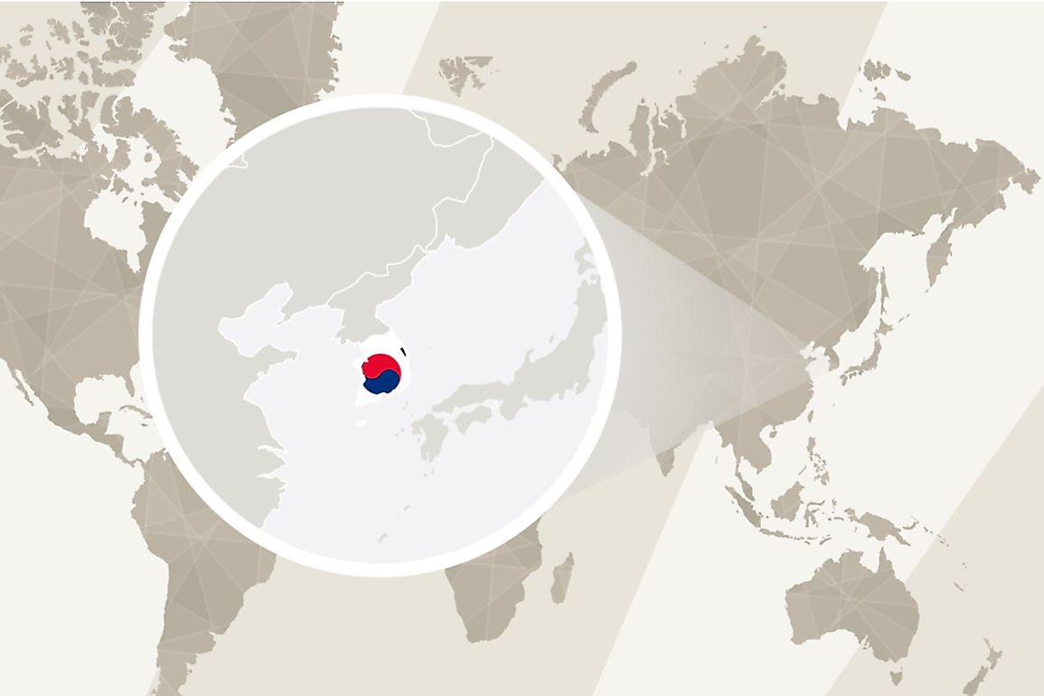 South Korea is bordered by North Korea to the north, as well as by the Yellow Sea to the west, the Sea of Japan to the east, and the Korea Strait to the south.