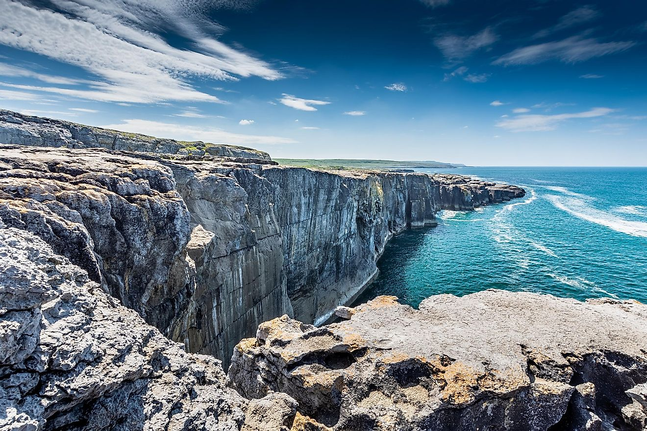 Spectacular landscape of the Burren region of County Clare, Ireland.