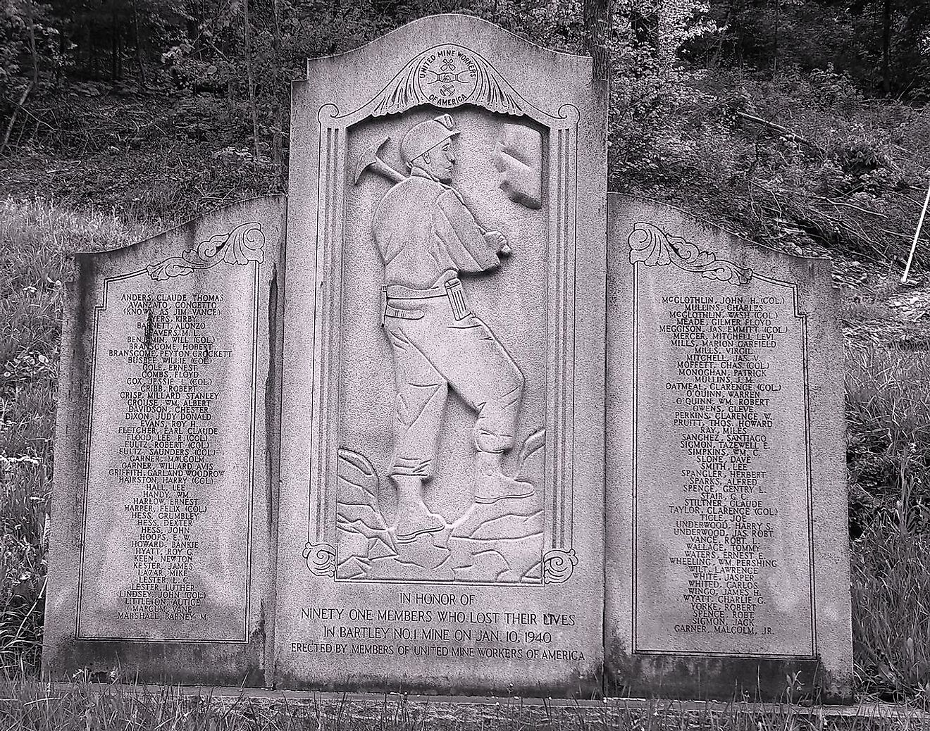Bartley WV Miners Memorial.