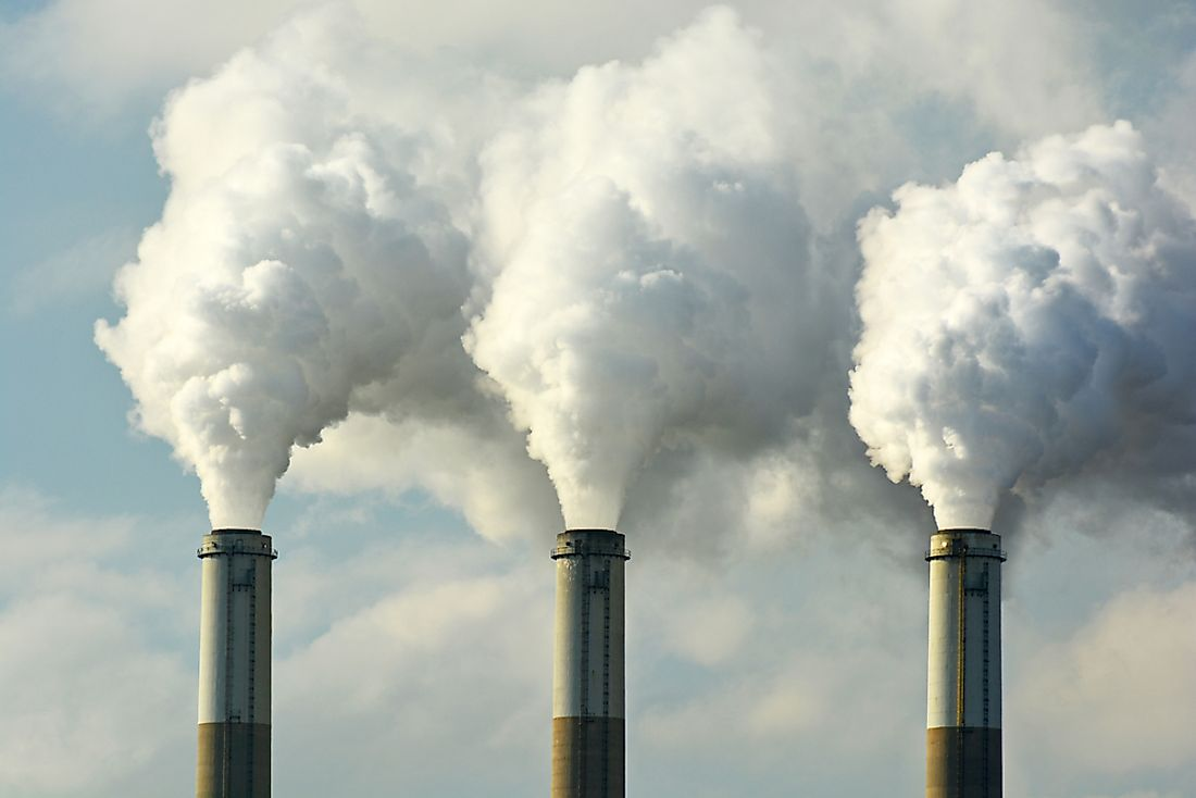 Fossil fuel power plants that transmit fumes are a contributing factor to urban pollution.