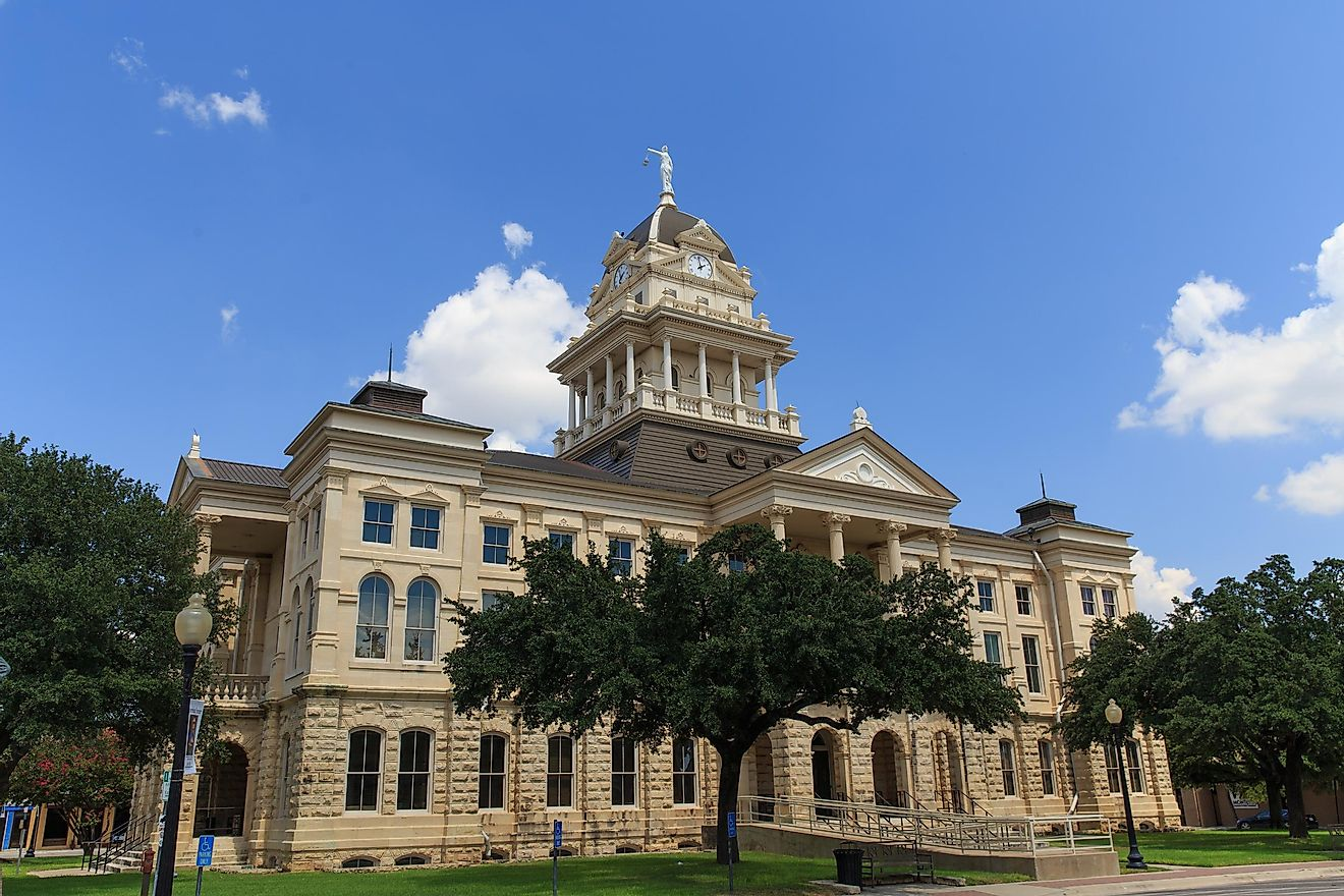 Bell County Courthouse, Belton, Texas.