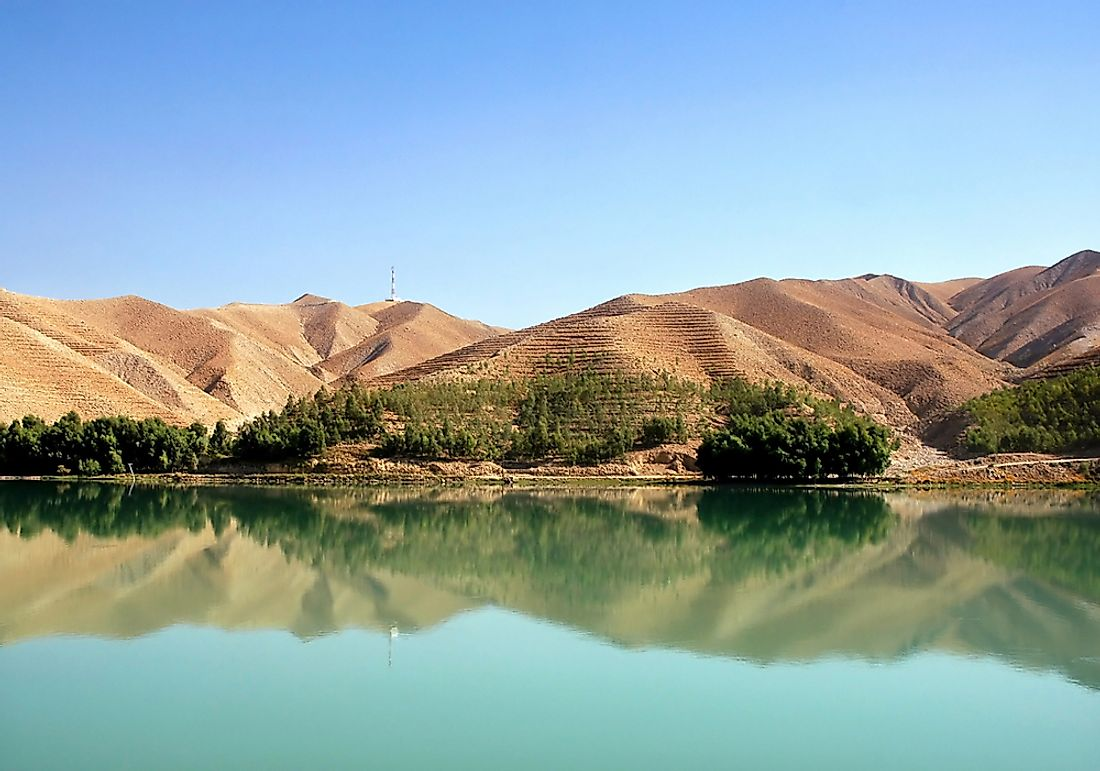 The Kabul River in Afghanistan.