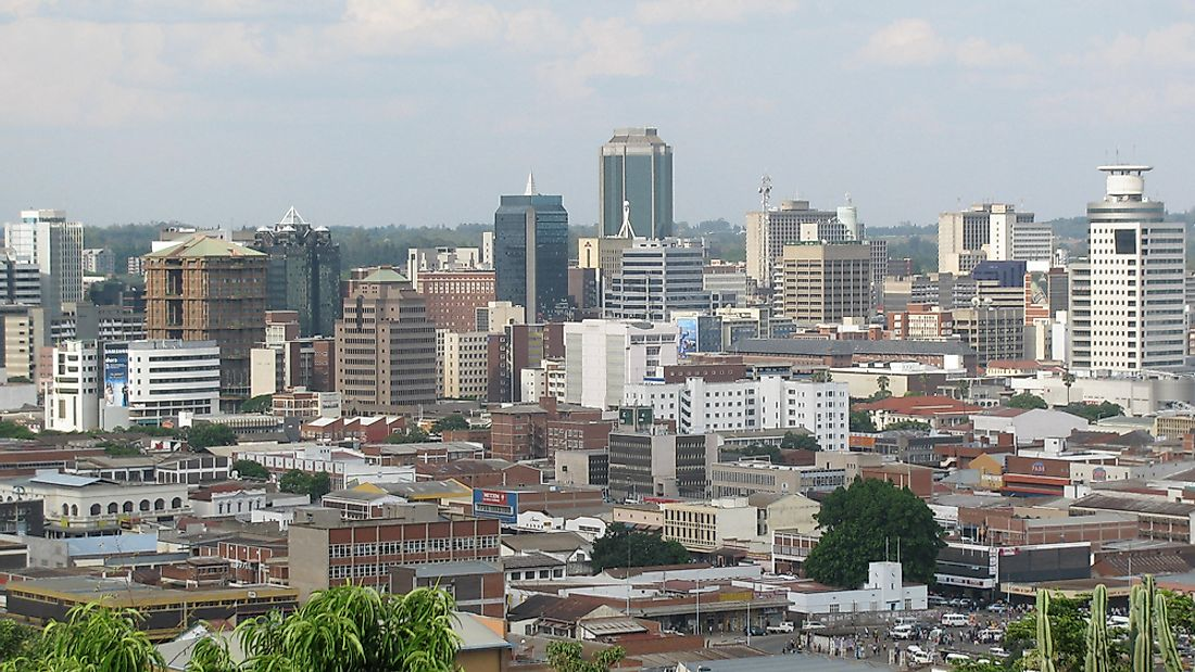 The capital city of Zimbabwe, Harare, is home to many important government buildings. Editorial credit: CECIL BO DZWOWA / Shutterstock.com