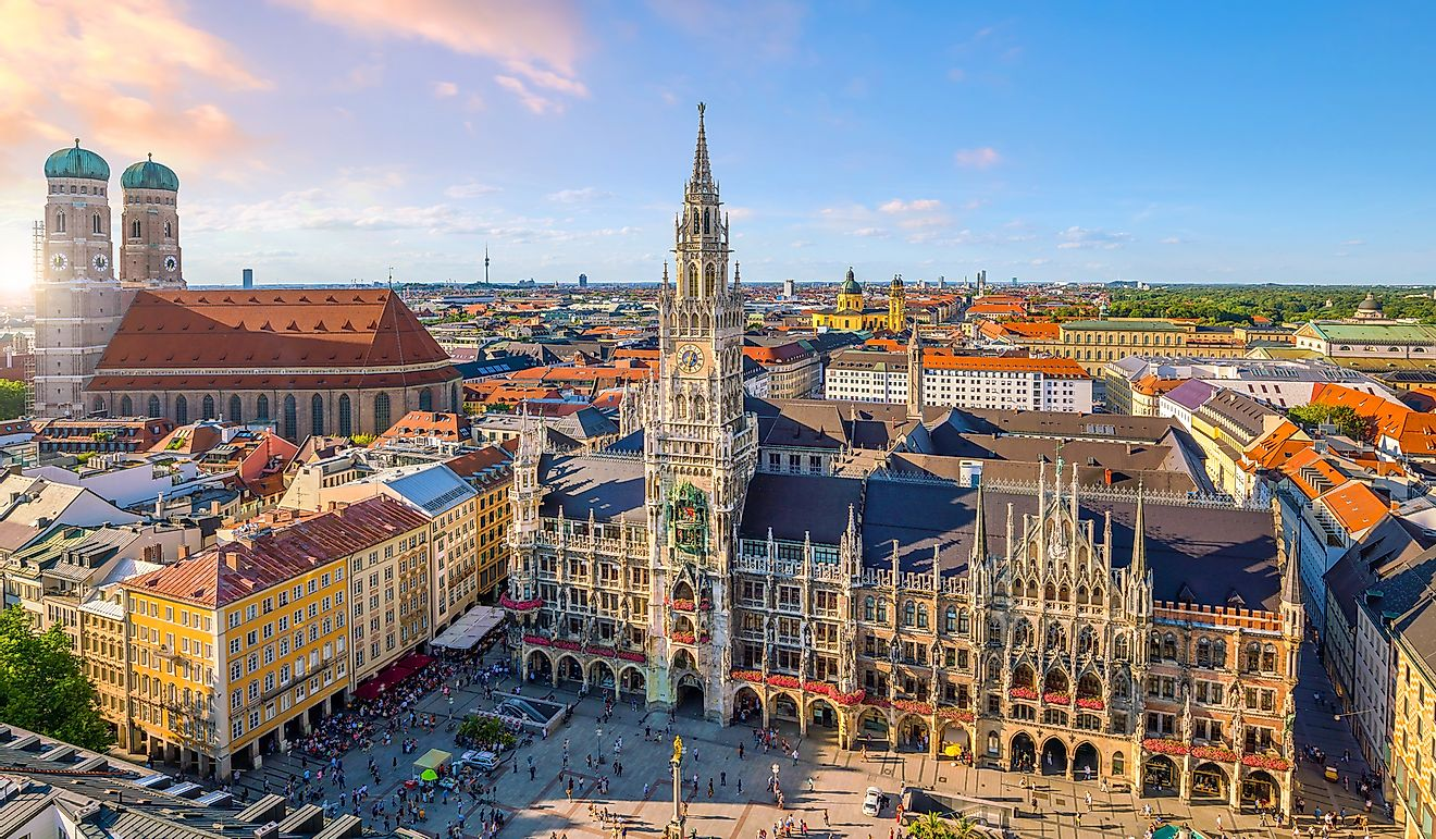Munich, the largest city in Bavaria.