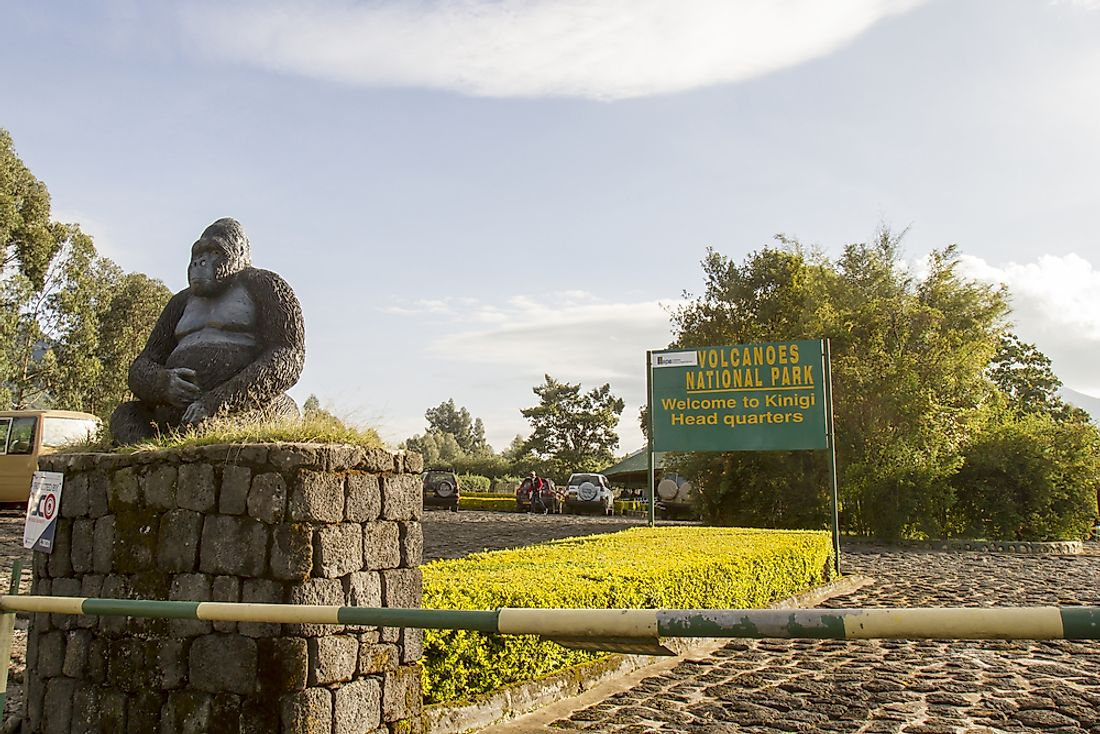 A sign in Rwanda. Editorial credit: karenfoleyphotography / Shutterstock.com.