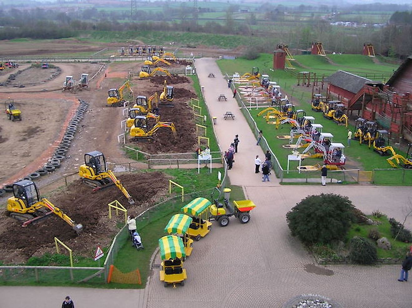 "Diggerland. HE Services theme park dedicated to all things ""Digger."" Image credit: Graham Shaw/Diggerland"