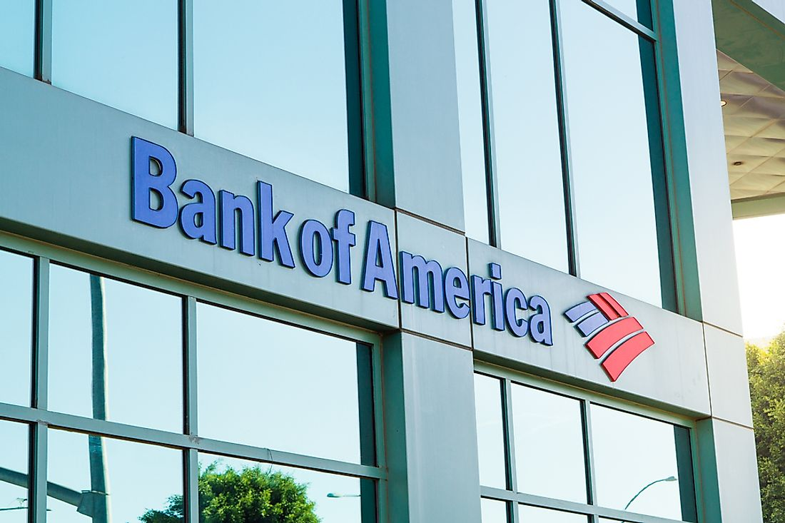 Bank of America is the second largest bank in the United States. Editorial credit: Tero Vesalainen / Shutterstock.com.