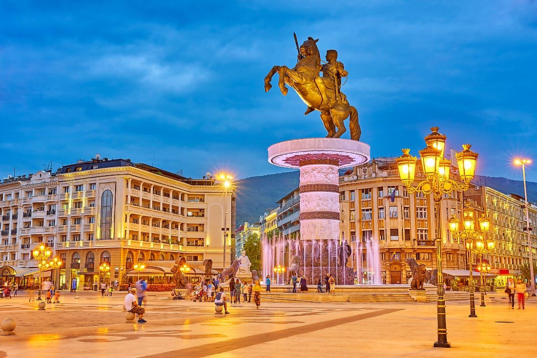 Statue of Alexander the Great, Macedonia.