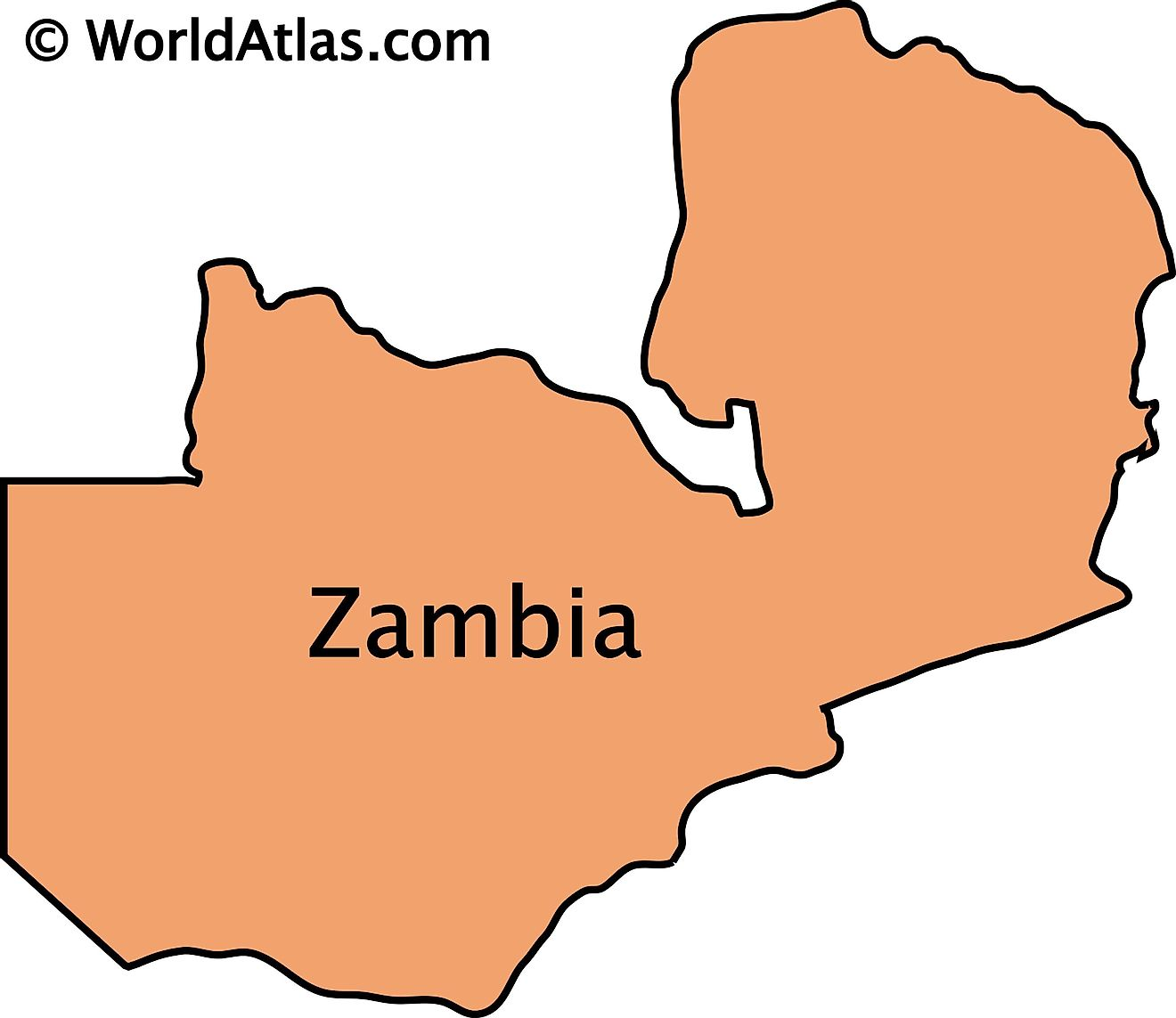 Outline Map of Zambia