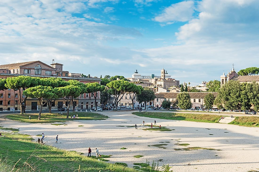The Circus Maximus in Rome.