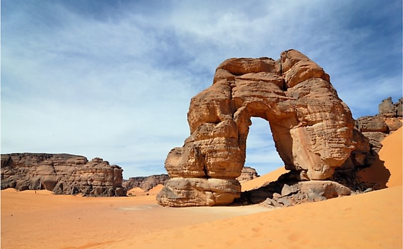 Rocks in the Sahara desert, Libya.