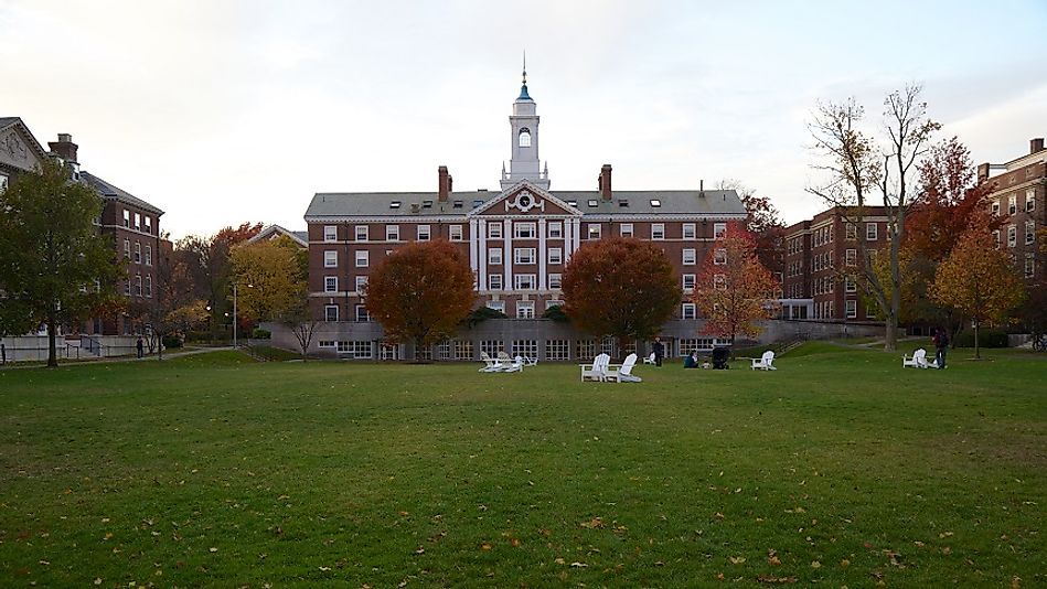 "Harvard in Cambridge, Massachusetts, U.S.A. is often ranked alongside other ""Ivy League"" schools in New England as being among the best universities in the world."