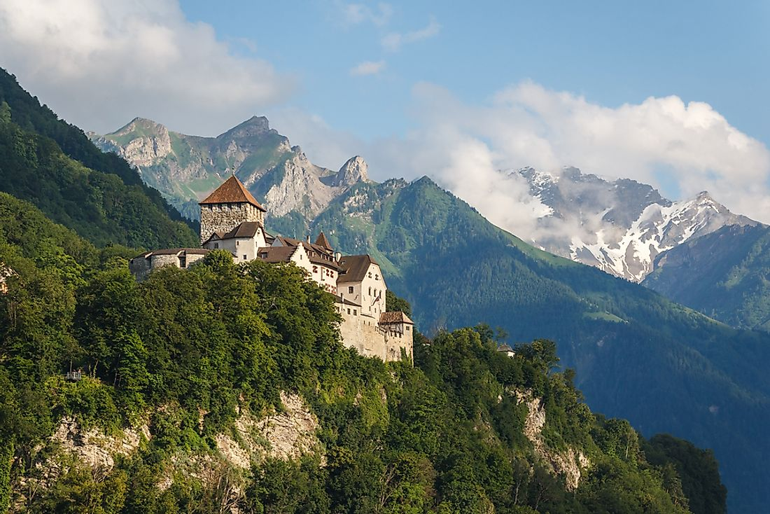 Vaduz castle in the capital of Liechtenstein.