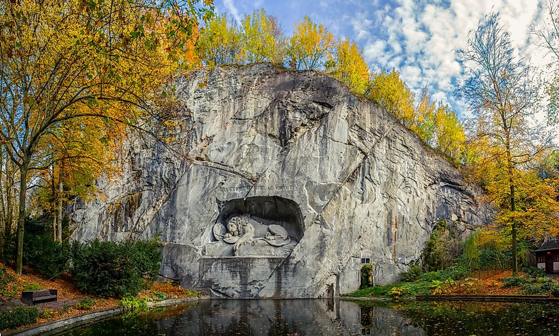The Lion Monument of Lucerne, Switzerland.