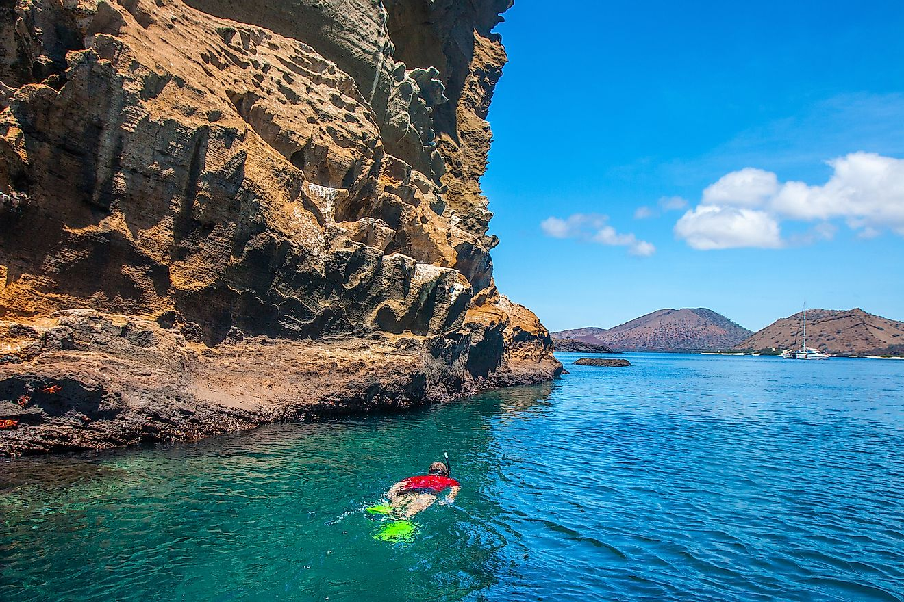 Exploring the underwater world in the Galapagos. Image credit: FOTOGRIN/Shutterstock.com