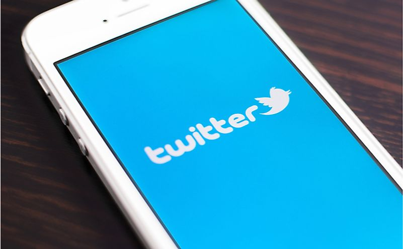 "Twitter is an online social networking and microblogging service that enables users to send and read ""tweets."" Editorial credit: Twin Design / Shutterstock.com"