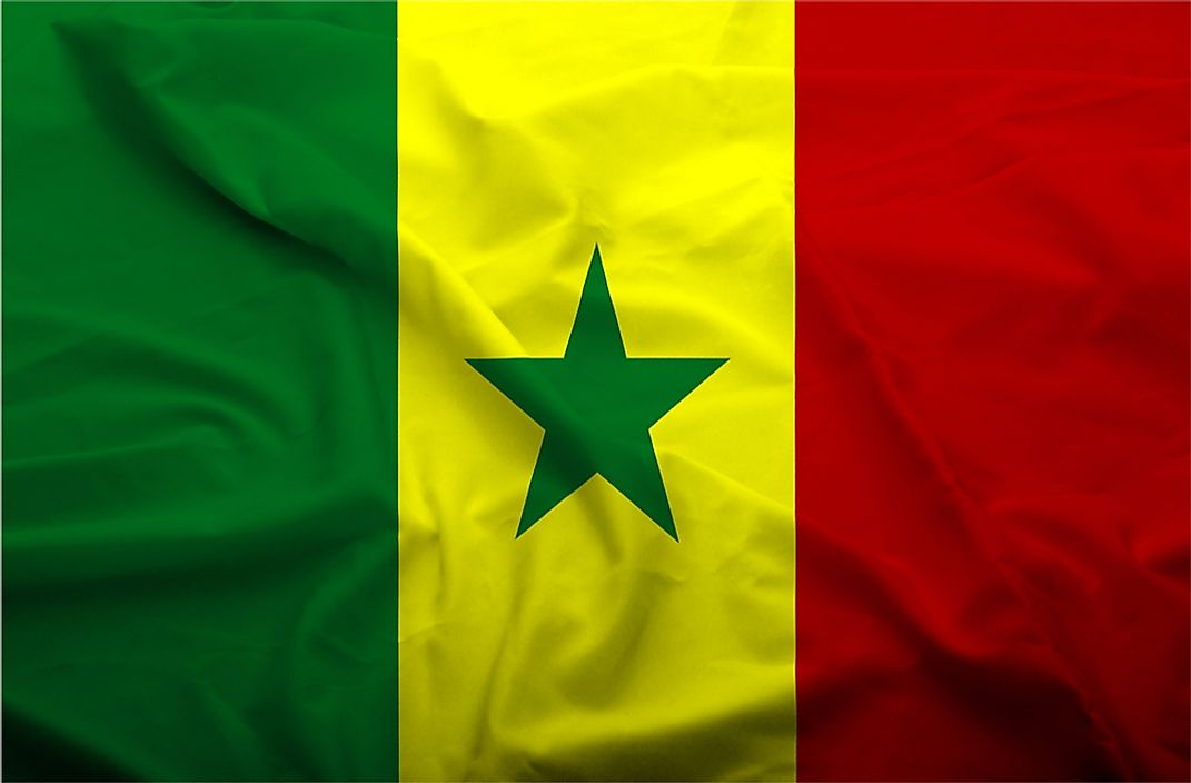 The flag of Senegal.