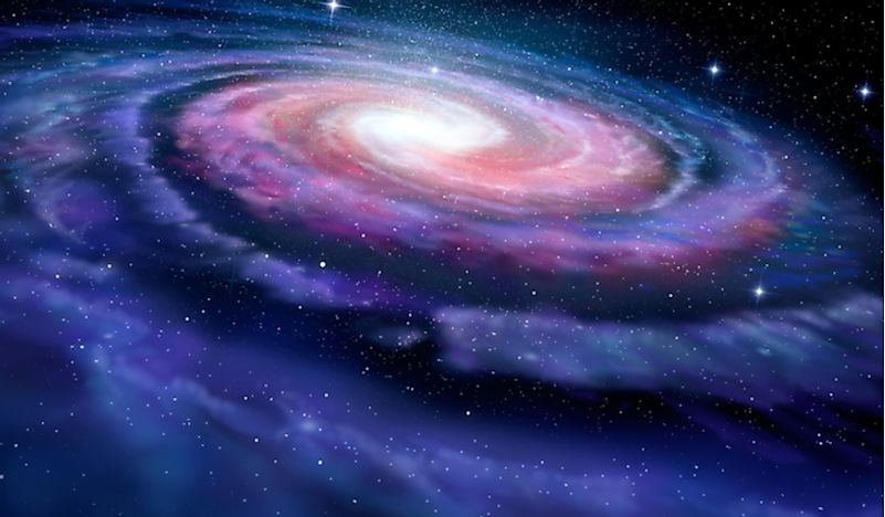 A 3D rendering of the Milky Way Galaxy.
