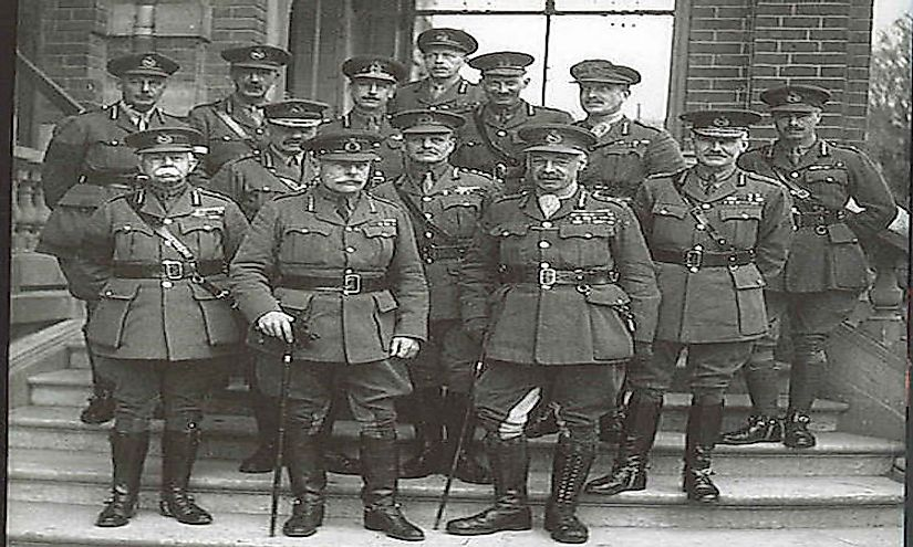 Army commanders and their chiefs of staff of the British Army, November 1918.