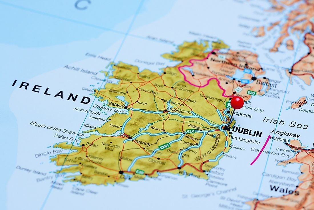 The Republic of Ireland shares the island of Ireland with the UK region of Northern Ireland.