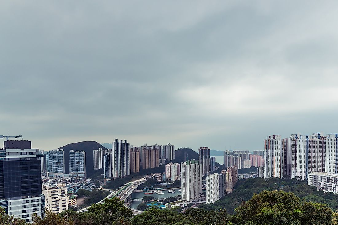 Ap Lei Chau, Hong Kong, is one of the world's most densely populated islands.