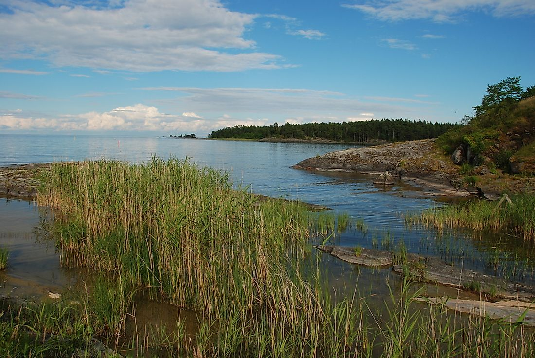 Lake Vänern, the largest lake in Sweden.