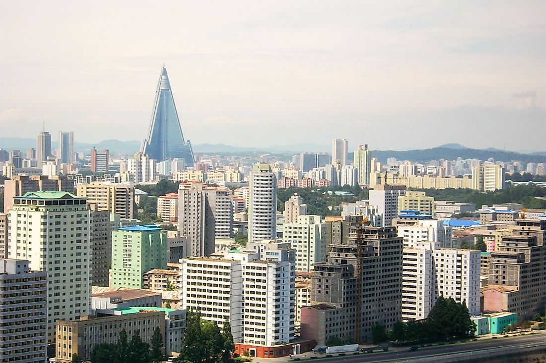 Pyongyang, the largest city in North Korea.