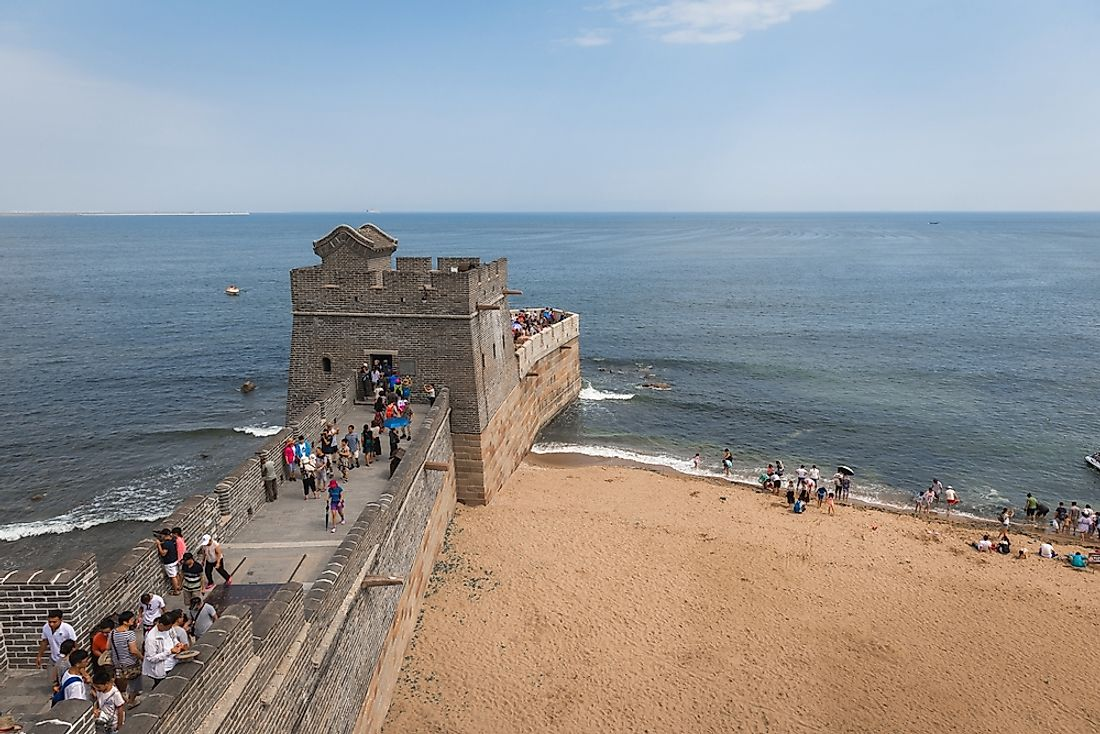 "The ""Old Dragon's Head"" where the Shanhai Pass meets the Bohai Sea. Editorial credit: SvedOliver / Shutterstock.com"