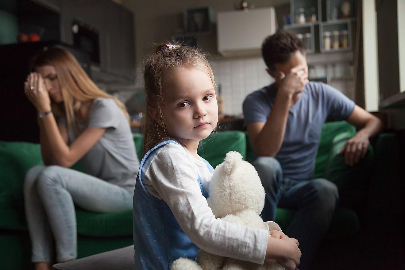Children often suffer as a result of their parents' divorce. Image credit: fizkes/Shutterstock.com